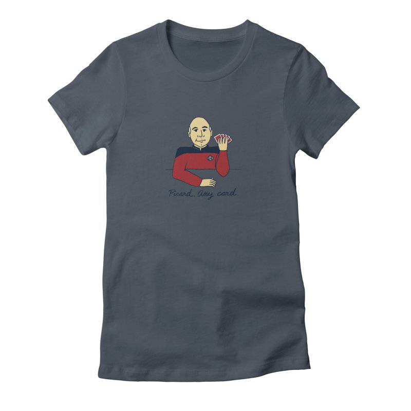Captain Picard Women's T-Shirt by laurastead's Artist Shop