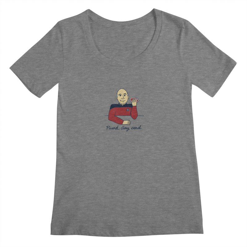 Captain Picard Women's Scoopneck by laurastead's Artist Shop
