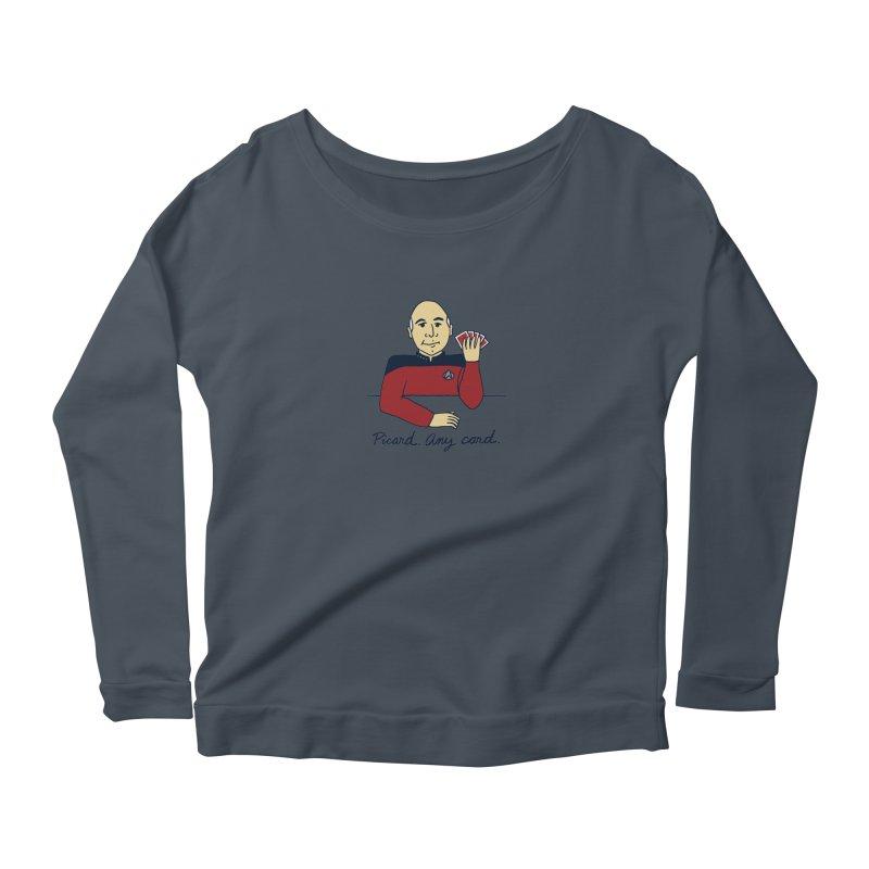 Captain Picard Women's Scoop Neck Longsleeve T-Shirt by laurastead's Artist Shop
