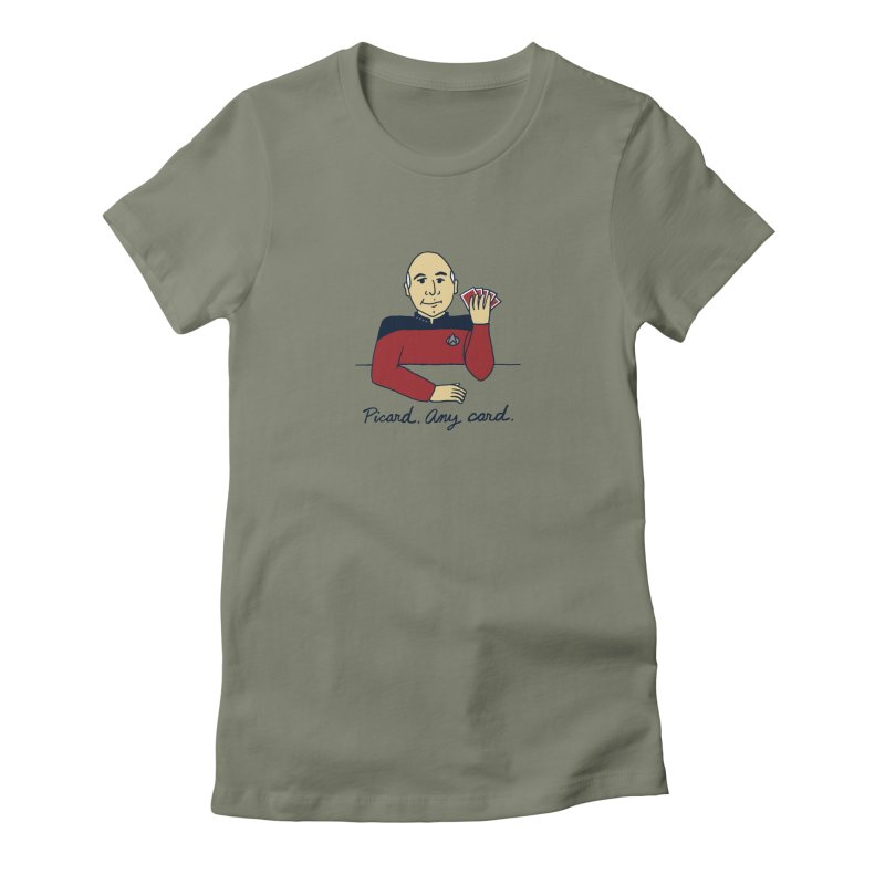 Captain Picard Women's Fitted T-Shirt by laurastead's Artist Shop