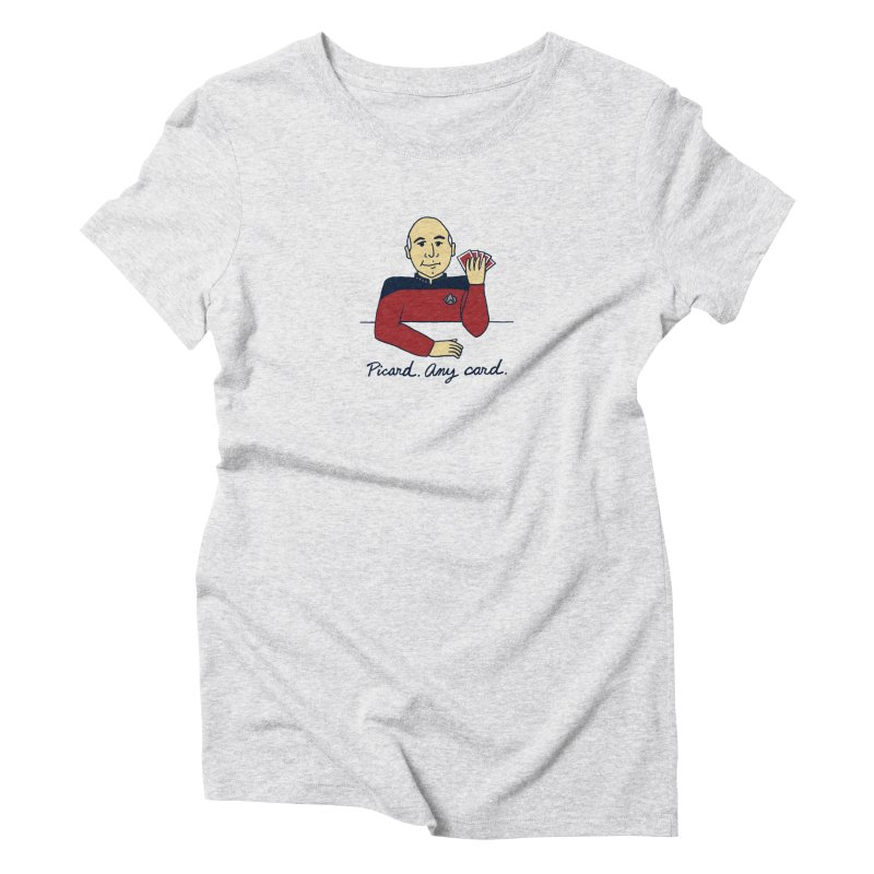 Captain Picard Women's Triblend T-Shirt by laurastead's Artist Shop