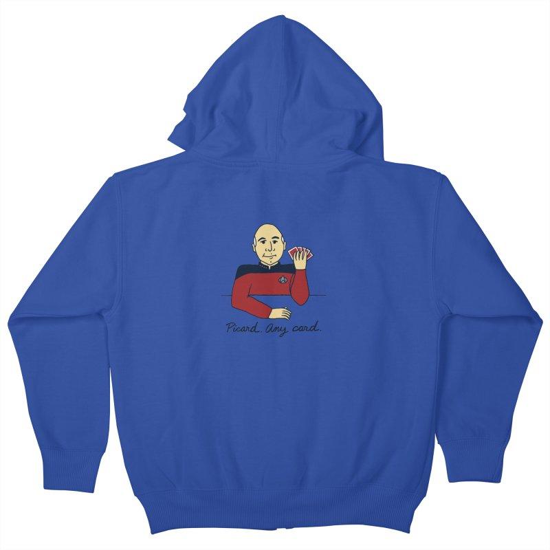 Captain Picard Kids Zip-Up Hoody by laurastead's Artist Shop