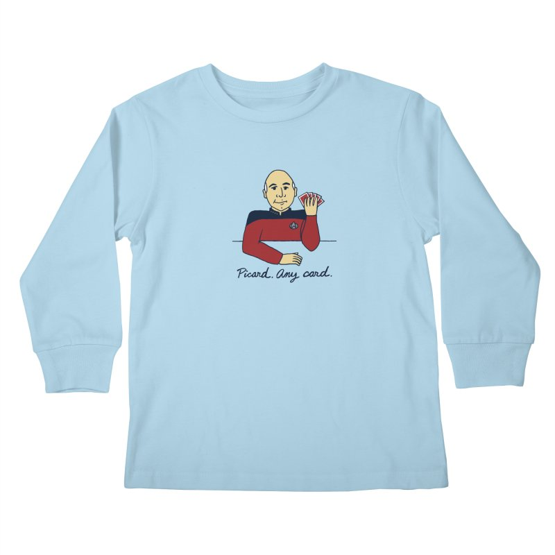 Captain Picard Kids Longsleeve T-Shirt by laurastead's Artist Shop