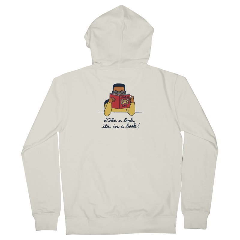 Take A Look Men's French Terry Zip-Up Hoody by laurastead's Artist Shop