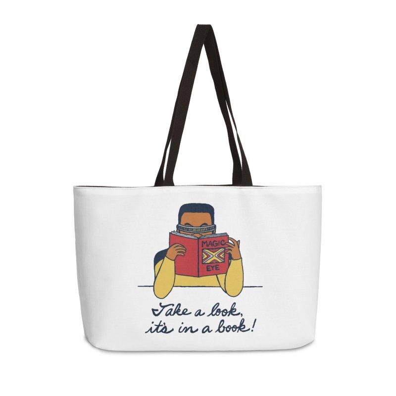 Take A Look Accessories Weekender Bag Bag by laurastead's Artist Shop