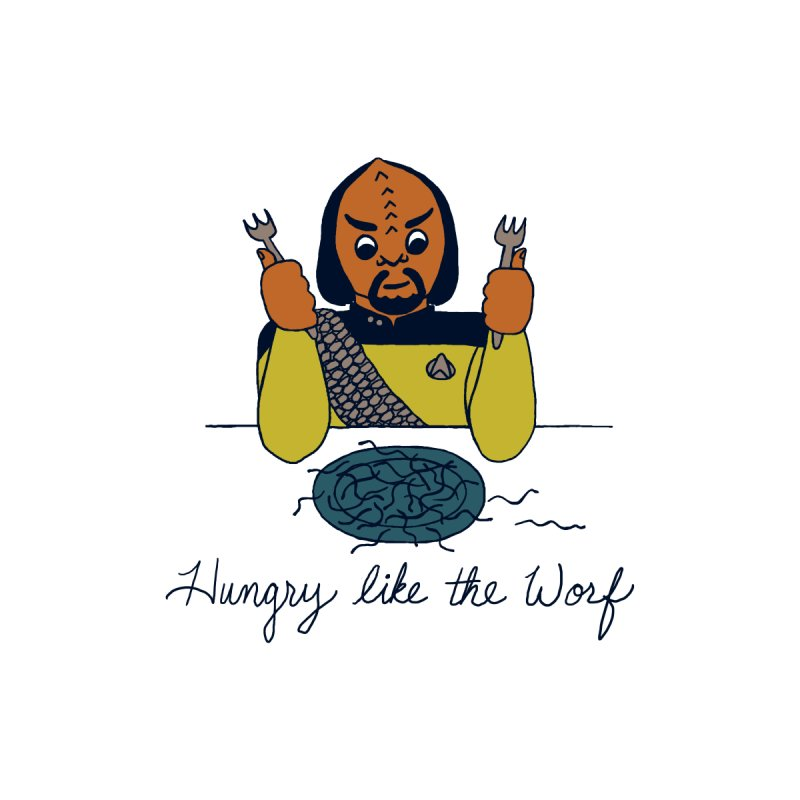 Hungry Like The Worf Women's Racerback Tank by laurastead's Artist Shop