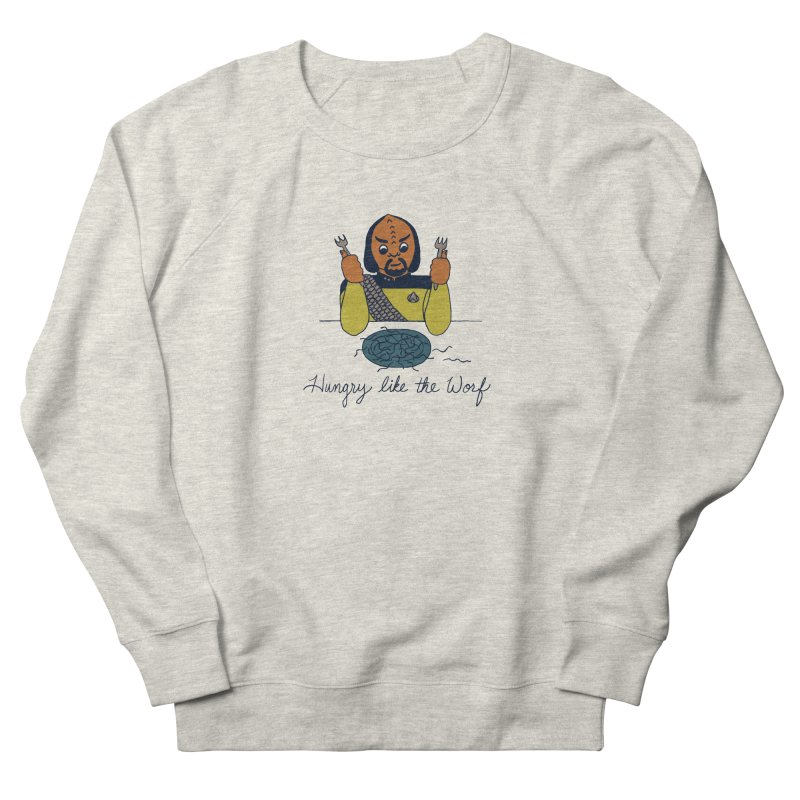 Hungry Like The Worf Men's Sweatshirt by laurastead's Artist Shop