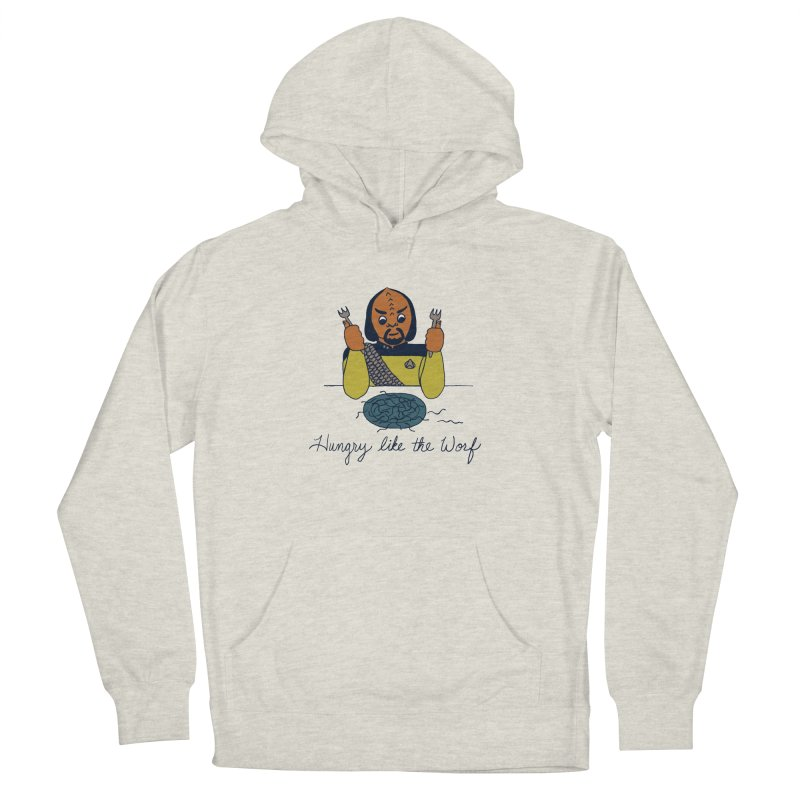 Hungry Like The Worf Women's French Terry Pullover Hoody by laurastead's Artist Shop
