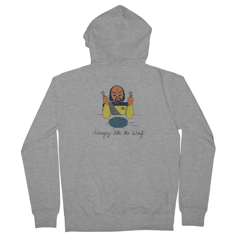 Hungry Like The Worf Women's French Terry Zip-Up Hoody by laurastead's Artist Shop