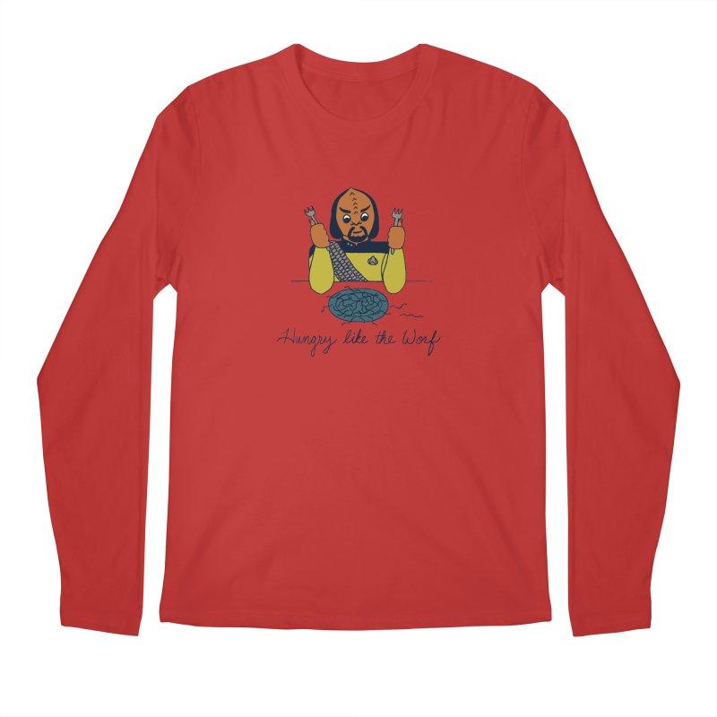 Hungry Like The Worf Men's Regular Longsleeve T-Shirt by laurastead's Artist Shop