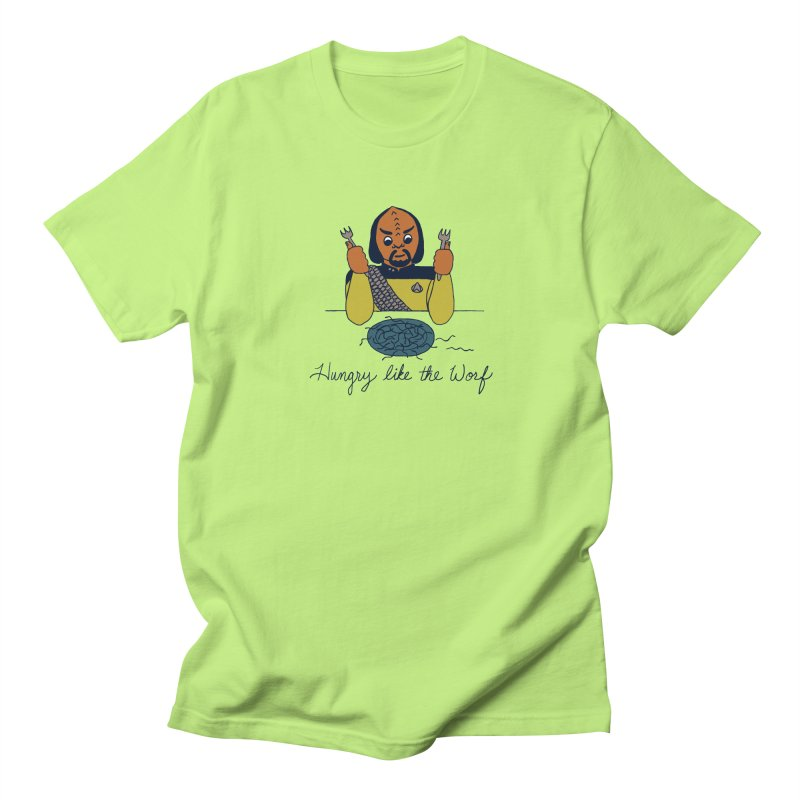 Hungry Like The Worf Men's T-Shirt by laurastead's Artist Shop