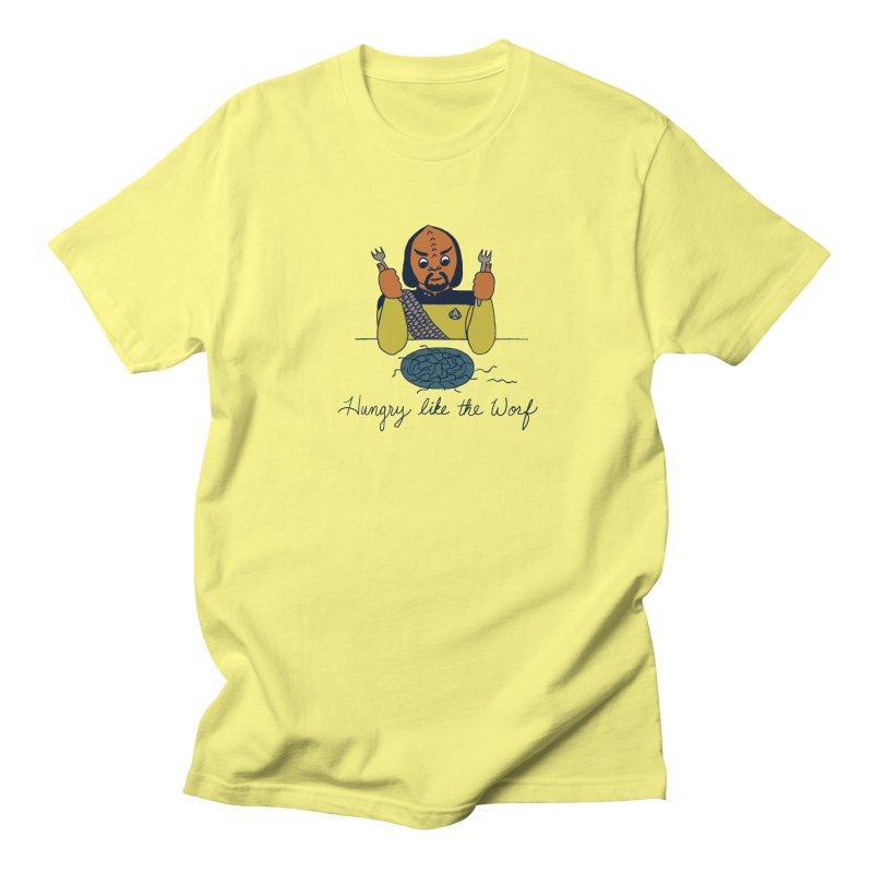 Hungry Like The Worf Women's Regular Unisex T-Shirt by laurastead's Artist Shop