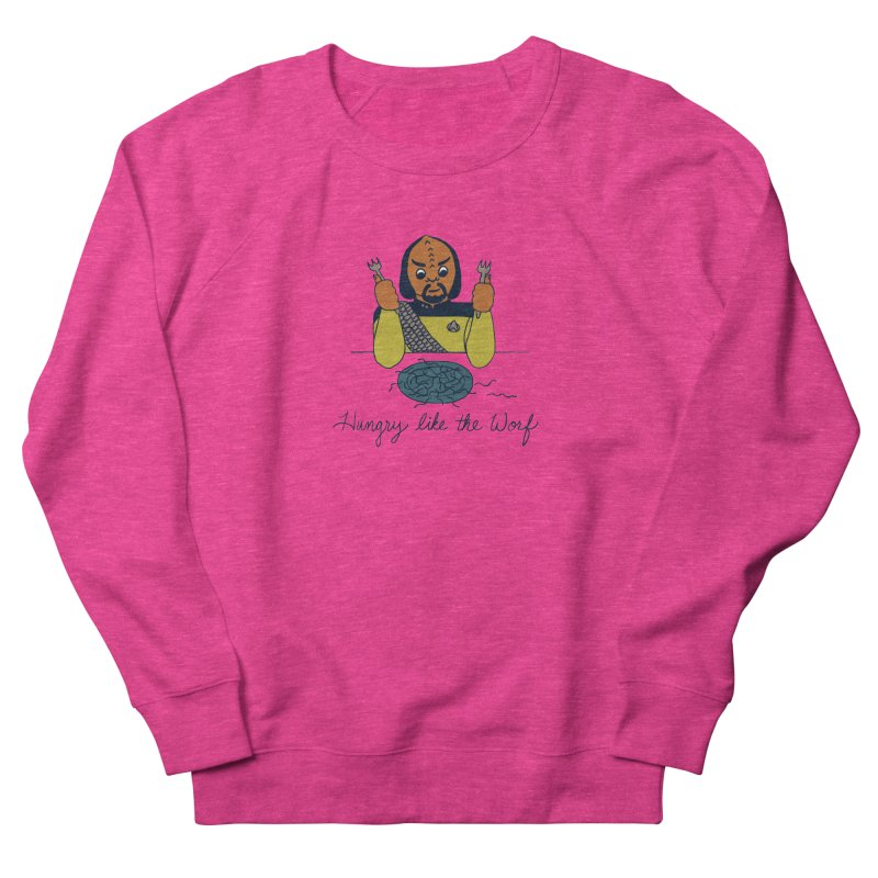 Hungry Like The Worf Men's French Terry Sweatshirt by laurastead's Artist Shop