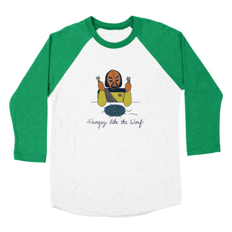 Hungry Like The Worf Women's Baseball Triblend T-Shirt by laurastead's Artist Shop
