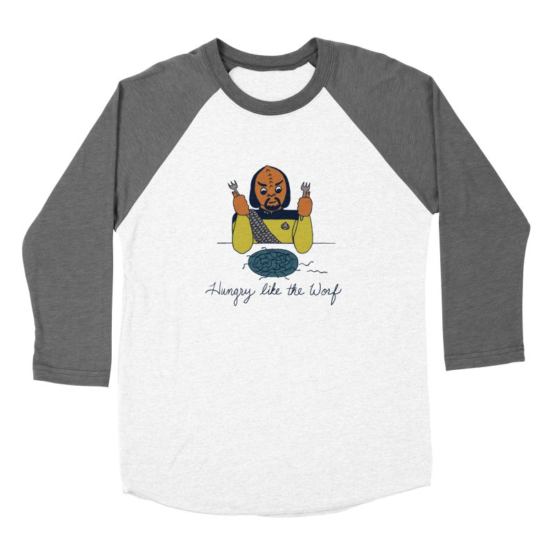 Hungry Like The Worf Men's Baseball Triblend T-Shirt by laurastead's Artist Shop