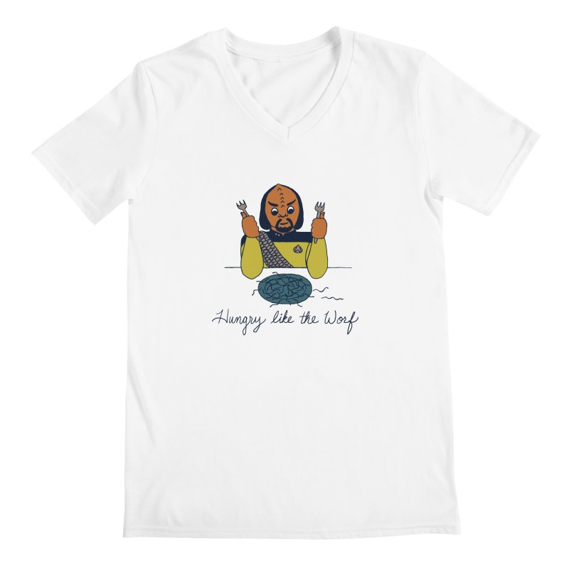 Hungry Like The Worf Men's V-Neck by laurastead's Artist Shop