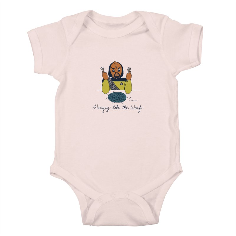 Hungry Like The Worf Kids Baby Bodysuit by laurastead's Artist Shop
