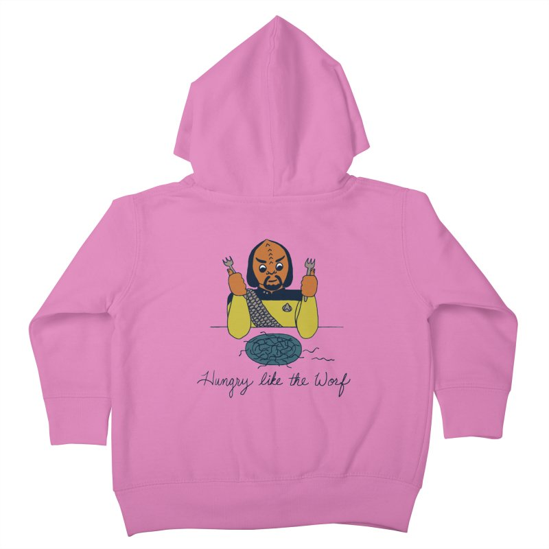 Hungry Like The Worf Kids Toddler Zip-Up Hoody by laurastead's Artist Shop
