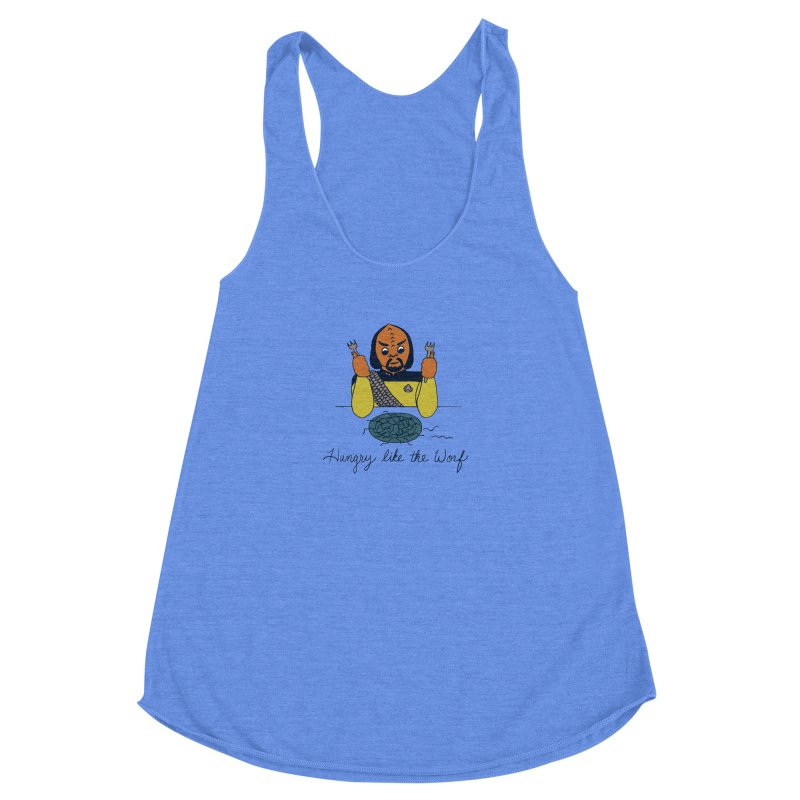 Hungry Like The Worf Women's Racerback Triblend Tank by laurastead's Artist Shop