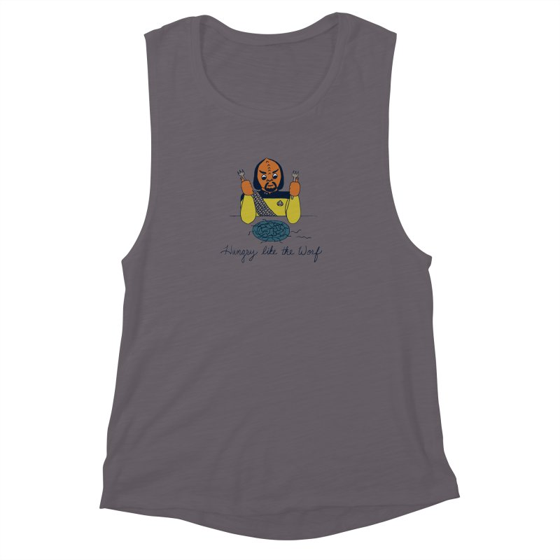 Hungry Like The Worf Women's Muscle Tank by laurastead's Artist Shop