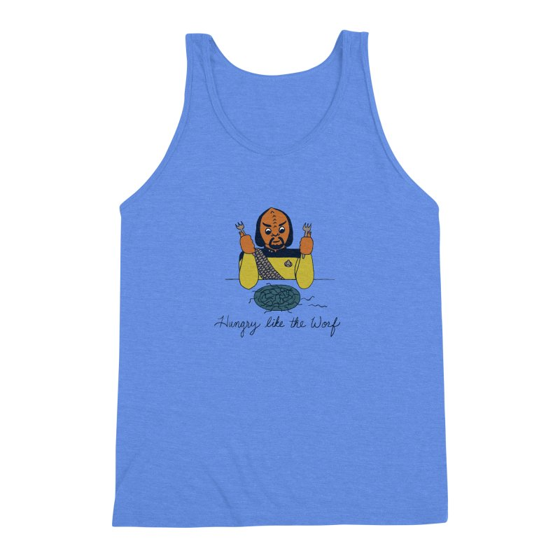 Hungry Like The Worf Men's Triblend Tank by laurastead's Artist Shop
