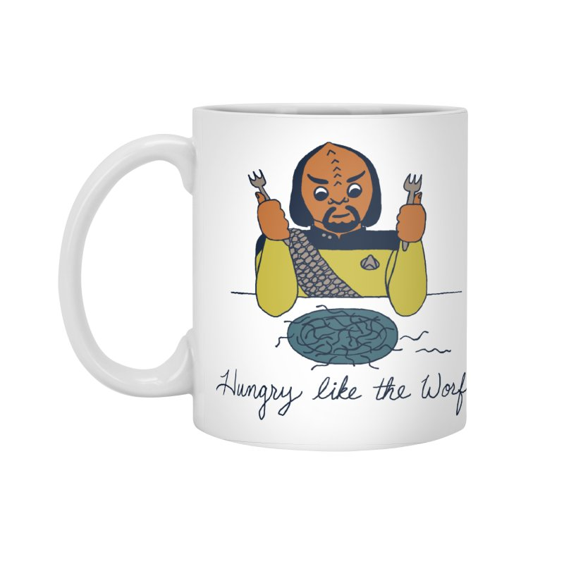 Hungry Like The Worf Accessories Standard Mug by laurastead's Artist Shop