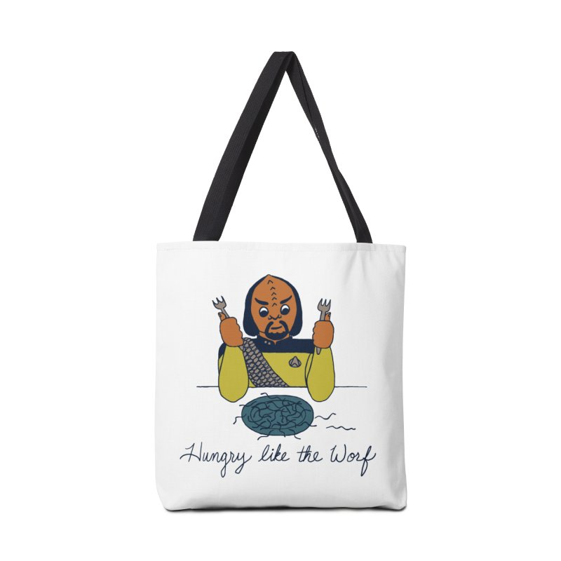 Hungry Like The Worf Accessories Tote Bag Bag by laurastead's Artist Shop