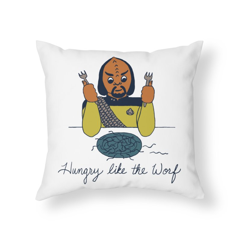 Hungry Like The Worf Home Throw Pillow by laurastead's Artist Shop