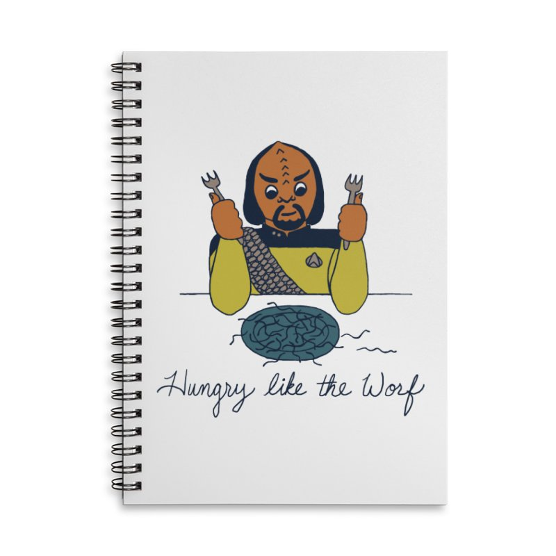 Hungry Like The Worf Accessories Lined Spiral Notebook by laurastead's Artist Shop