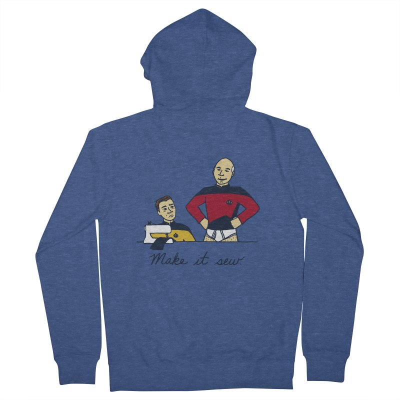 Make It So Men's French Terry Zip-Up Hoody by laurastead's Artist Shop