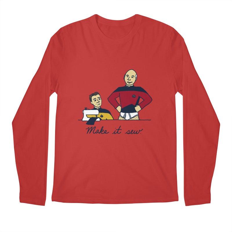 Make It So Men's Regular Longsleeve T-Shirt by laurastead's Artist Shop