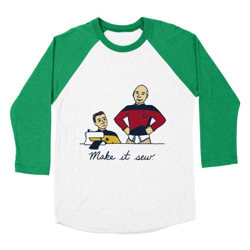Make It So Men's Baseball Triblend Longsleeve T-Shirt by laurastead's Artist Shop