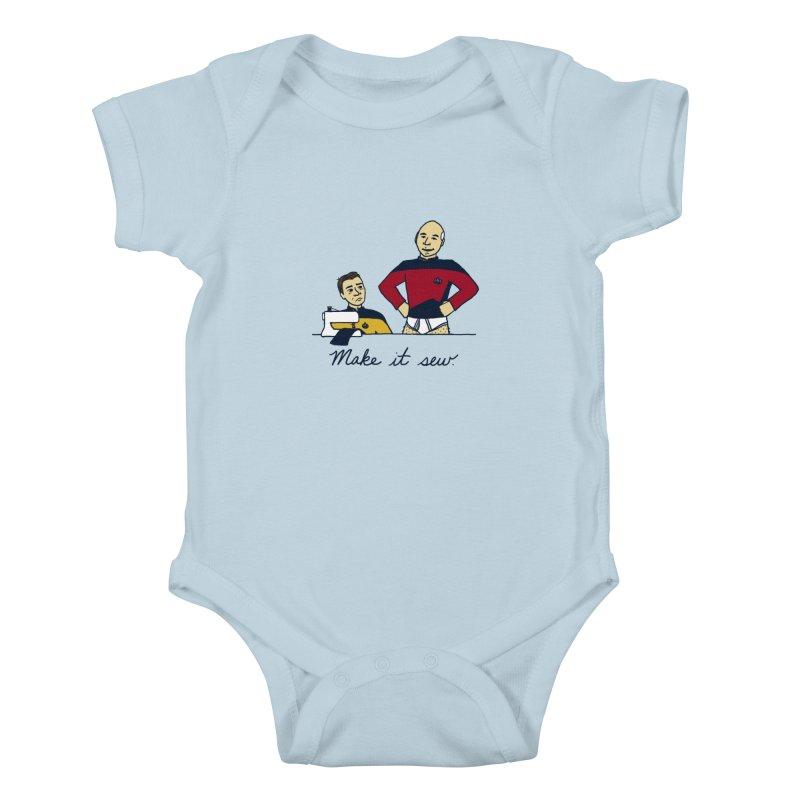 Make It So Kids Baby Bodysuit by laurastead's Artist Shop