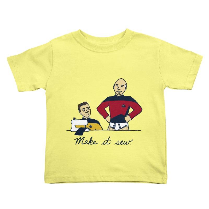 Make It So Kids Toddler T-Shirt by laurastead's Artist Shop
