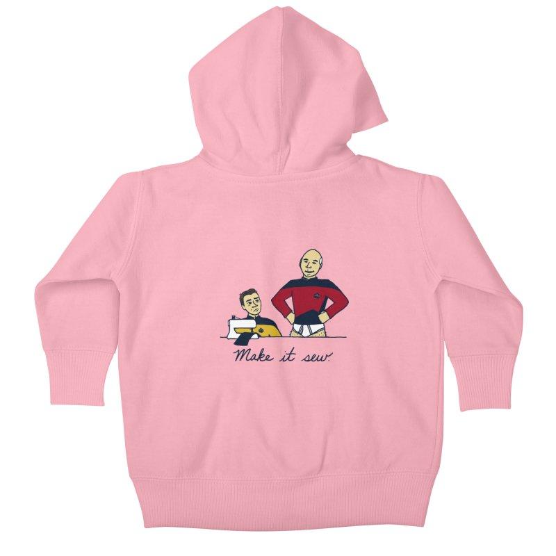 Make It So Kids Baby Zip-Up Hoody by laurastead's Artist Shop
