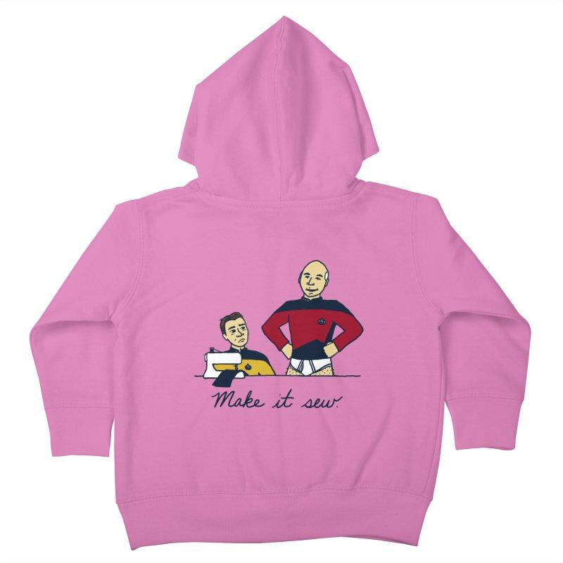 Make It So Kids Toddler Zip-Up Hoody by laurastead's Artist Shop