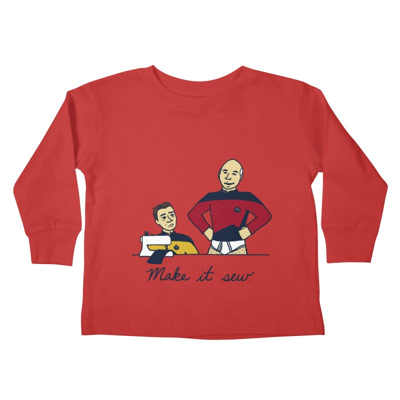 Make It So Kids Toddler Longsleeve T-Shirt by laurastead's Artist Shop