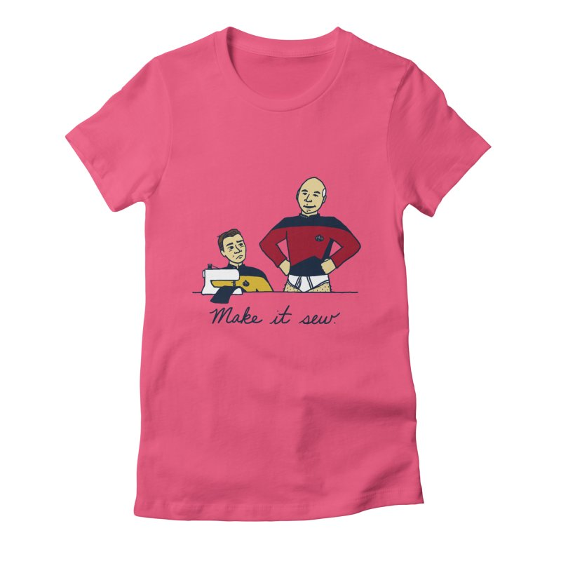 Make It So Women's Fitted T-Shirt by laurastead's Artist Shop