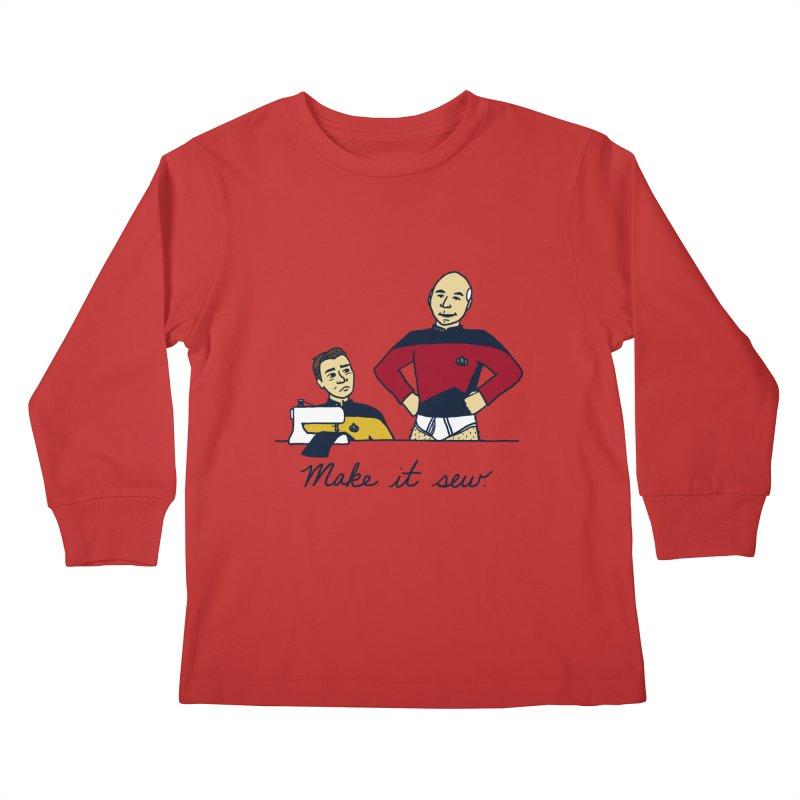Make It So Kids Longsleeve T-Shirt by laurastead's Artist Shop
