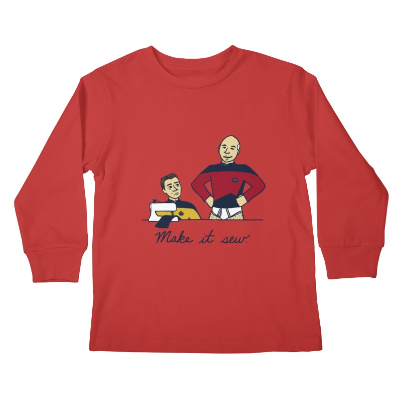 Make It So Kids Longsleeve T-Shirt by laurastead's Artist Shop