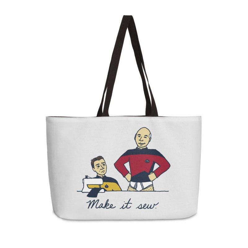Make It So Accessories Weekender Bag Bag by laurastead's Artist Shop