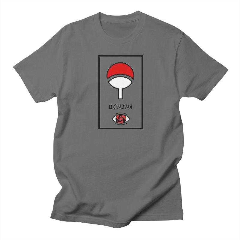 Laurcrv Uchiha Clan Symbol With Sasuke Eye Naruto Mens T Shirt