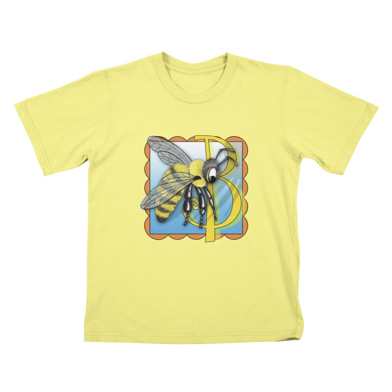 B is for Bee in Kids T-Shirt Canary by Laure Carlisle's Artist Shop