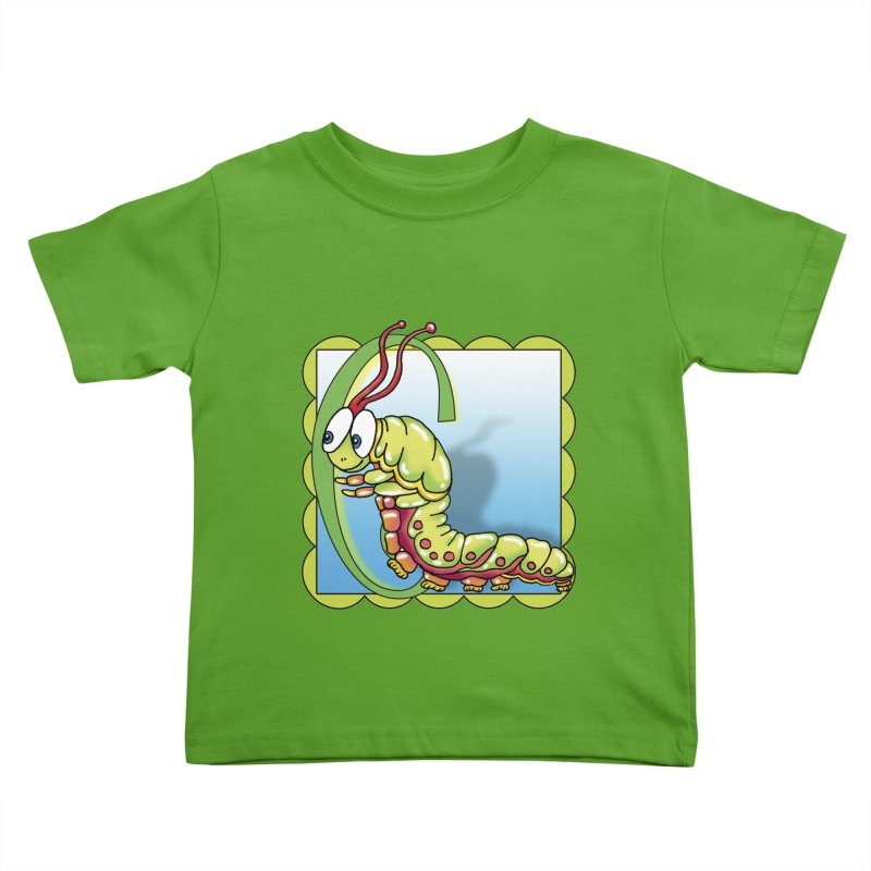 C is for Catepillar in Kids Toddler T-Shirt Apple by Laure Carlisle's Artist Shop