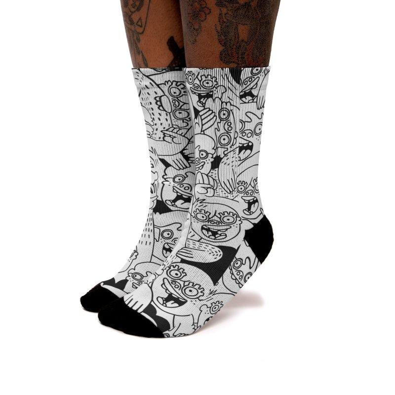 Up For Grabs in Women's Crew Socks by Lauren Asta