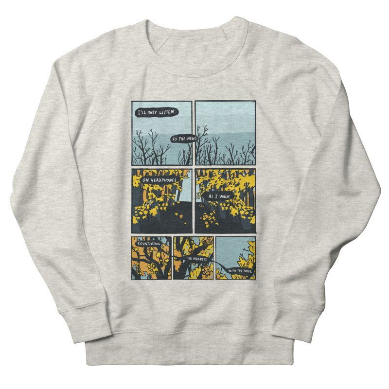 News Walk Men's Sweatshirt by Lauren Things Store