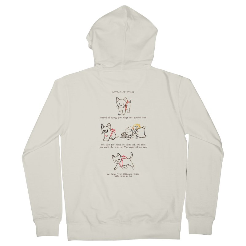 Cats (Adopt) Women's French Terry Zip-Up Hoody by Lauren Things Store