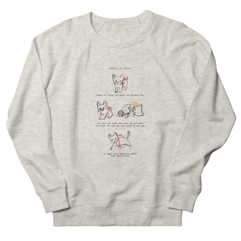 Cats (Adopt) Men's French Terry Sweatshirt by Lauren Things Store