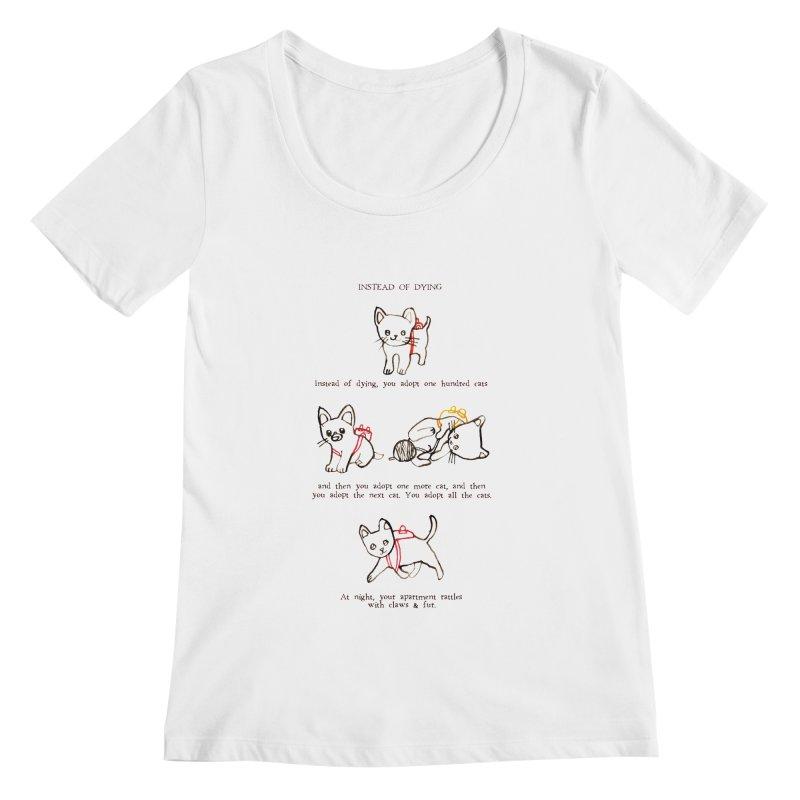 Cats (Adopt) Women's Regular Scoop Neck by Lauren Things Store