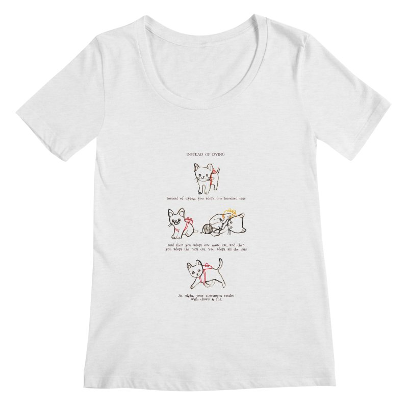 Cats (Adopt) Women's Regular Scoop Neck by Lauren Things Store